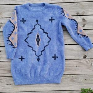 Fuzzy Southwestern Aztec Sweater